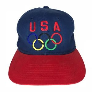 Vintage Olympics USA Snapback Hat Visions Of Gold